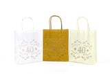 40th Birthday Decorations -Lumiere bags - lantern bags for the perfect party mood