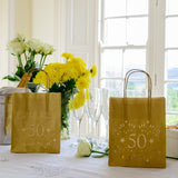 50th Birthday Decorations -Luminary bags - lantern bags for the perfect party mood