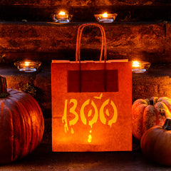 Boo Halloween bag - orange Lantern Luminaria