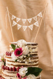 naked cake and personalised cake topper