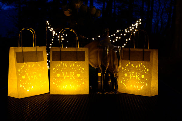 Personalised Wedding Lantern Bag, Perfect party decor - Your Initials