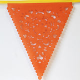 orange lace party bunting