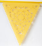 lace yellow party bunting