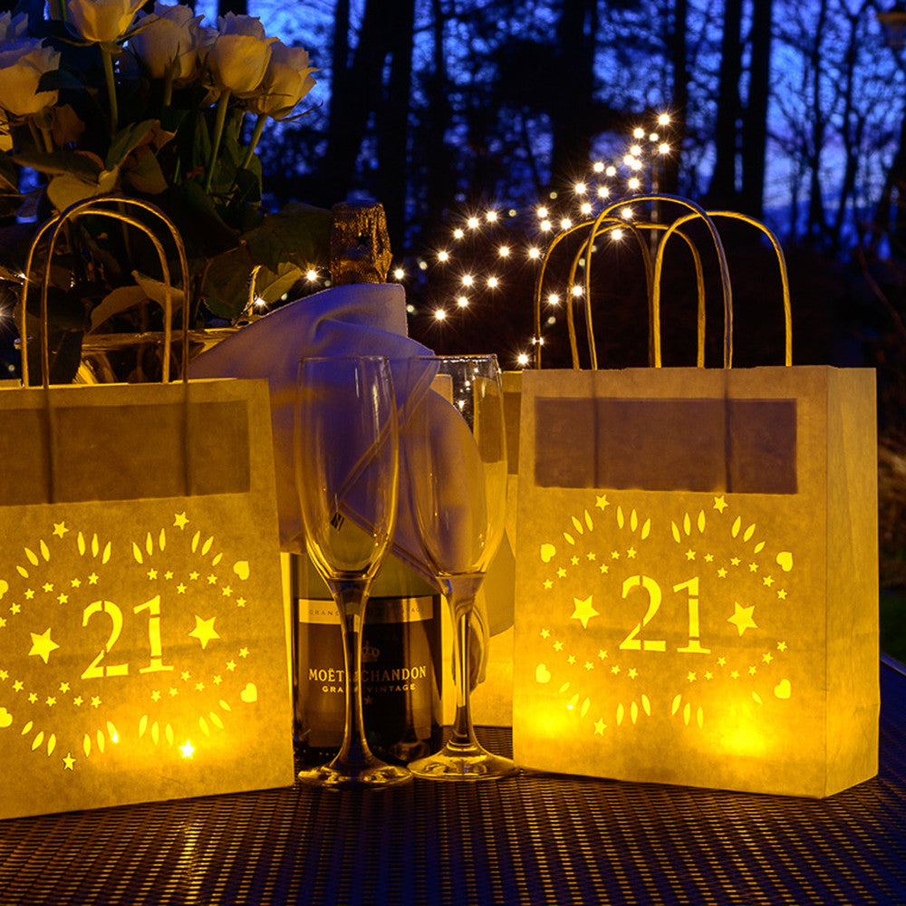 21st Birthday Decorations Lantern Bags Make Great Table Centrepieces