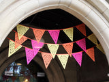 yellow pink and orange party bunting