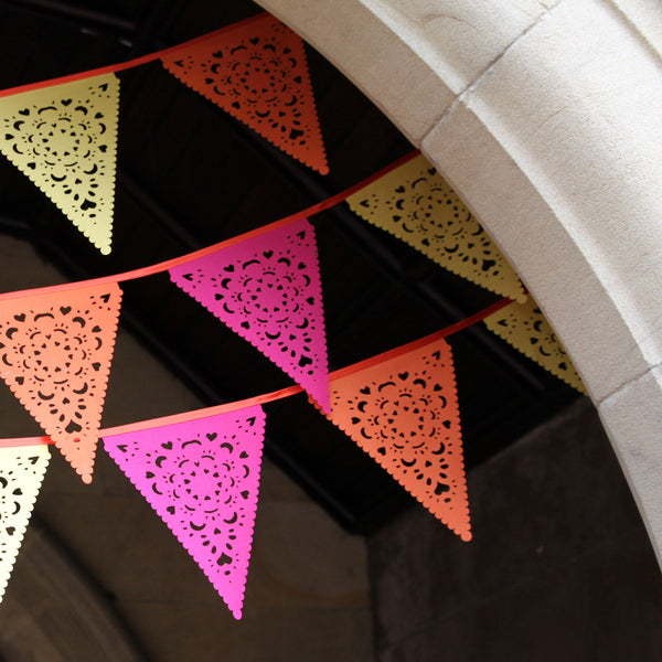perfect party decorations - bright bunting