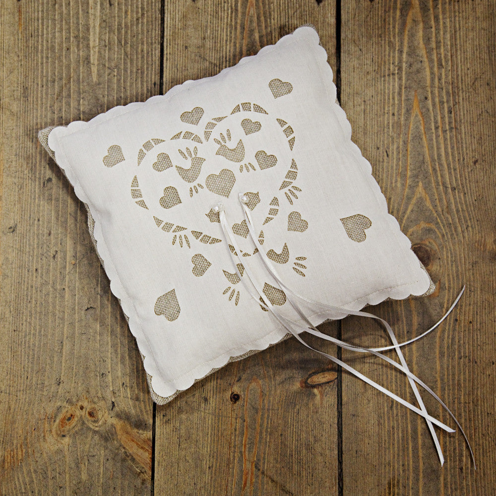 lace bearer product vintage wedding pillow ring supplies store ceremony burlap rustic decoration