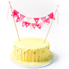 Pink Birthday Mini Cake Bunting