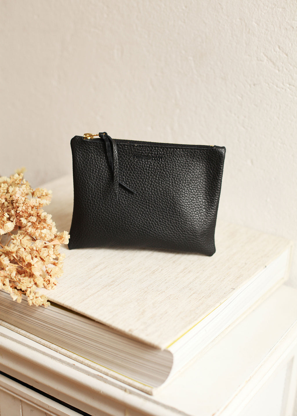 Black Textured Clutch