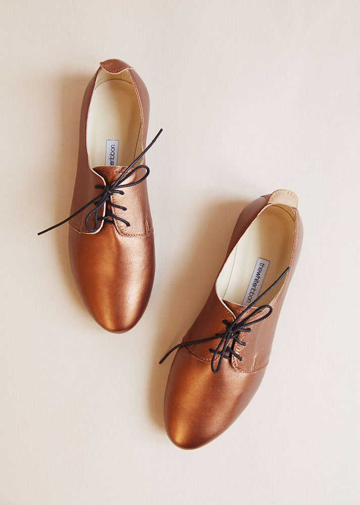 Bronze Oxford Shoes