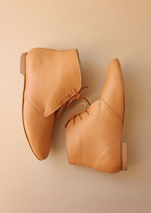 Latte Leather Boots