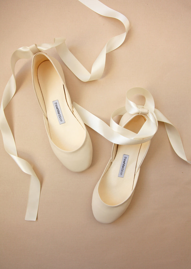 Vanilla Ivory with Satin Ribbons
