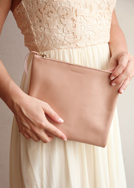 The Bridal Clutch in Nude
