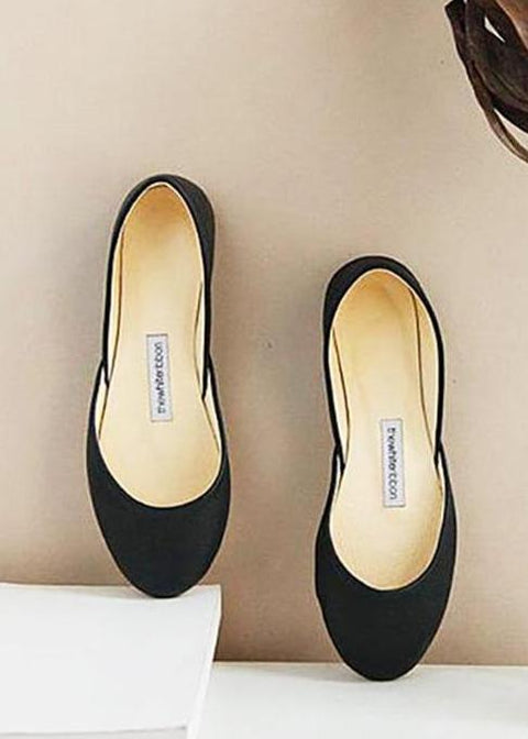minimalist black leather ballerinas from top