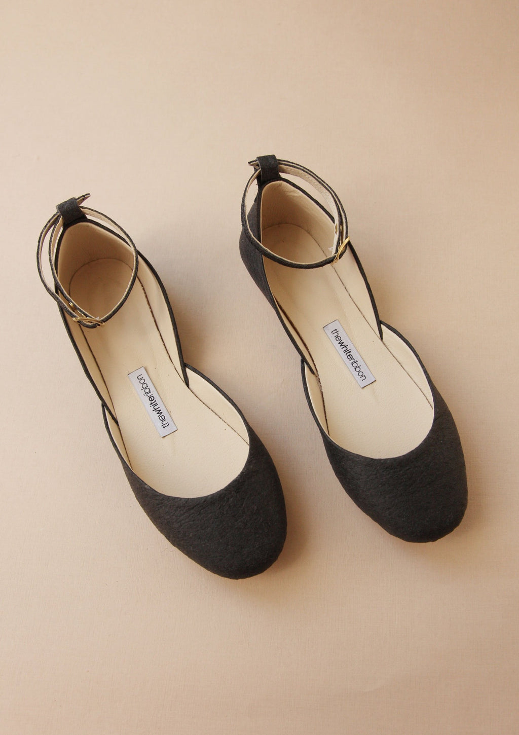Vegan leather mary janes shoes in black
