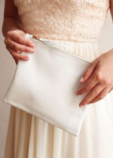 The Bridal Clutch in White