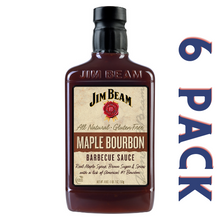 Load image into Gallery viewer, Jim Beam Maple Bourbon Barbecue Sauce - 6/18 oz Bottles