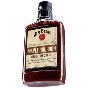 Jim Beam Maple Bourbon Barbecue Sauce - 4/18 oz Bottles
