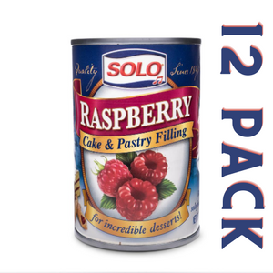Solo Raspberry Cake & Pastry Filling - 12 Pack