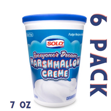 Load image into Gallery viewer, Solo Marshmallow Creme 7 oz - 6 Pack