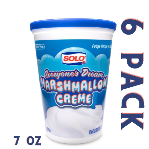 Solo Marshmallow Creme 7 oz - 6 Pack