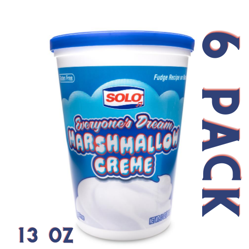 Solo Marshmallow Creme 13 oz - 6 Pack