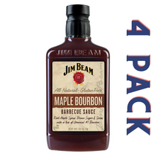 Load image into Gallery viewer, Jim Beam Maple Bourbon Barbecue Sauce - 4/18 oz Bottles