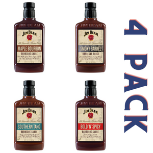 Jim Beam Barbecue Sauce Variety Pack - 4/18 oz Bottles