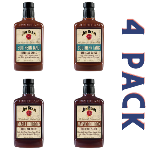 Jim Beam Barbecue Sauce Sweet & Tangy Pack - 4/18 oz Bottles