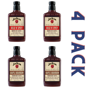 Jim Beam Barbecue Sauce Sweet & Spicy Pack - 4/18 oz Bottles