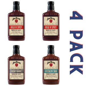 Jim Beam Barbecue Sauce Be Bold Pack - 4/18 oz Bottles