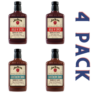 Jim Beam Barbecue Sauce Bold & Tangy Pack - 4/18 oz Bottles