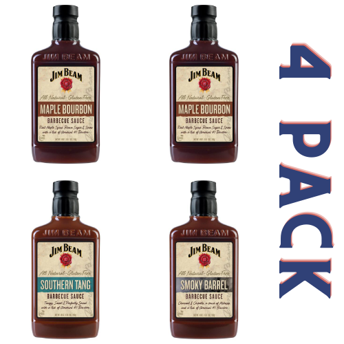 Jim Beam Barbecue Sauce Fan Favorites Pack - 4/18 oz Bottles