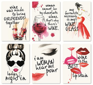 Ladies' Night Wine Labels