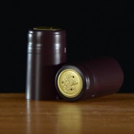 Shrink Caps - Burgundy Matte 100 Count