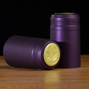 Shrink Caps - Purple Metallic 100 Count