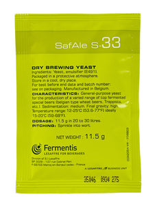 Fermentis Safbrew S-33 Brewing Yeast