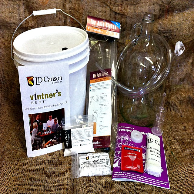 1 Gallon Fruit Wine Equipment Kit