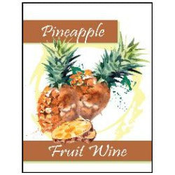 Fruit Wine Labels - Pineapple