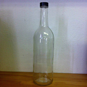 750mL Claret Screw-Top Bottles - Clear