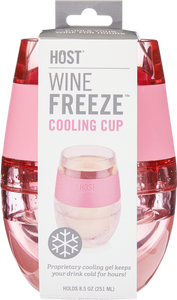 FREEZE™ Wine Cooling Cup - Individual Cups in Translucent Colors