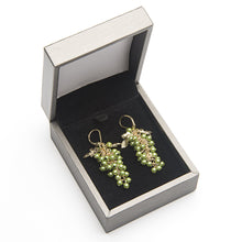 Load image into Gallery viewer, Grape Bunch Earrings - Green