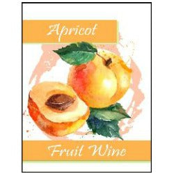 Fruit Wine Labels - Apricot
