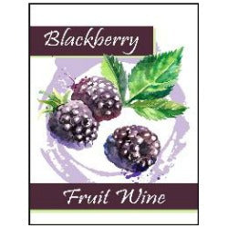 Fruit Wine Labels - Blackberry