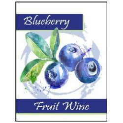 Fruit Wine Labels - Blueberry