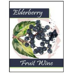 Fruit Wine Labels - Elderberry