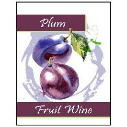 Fruit Wine Labels - Plum