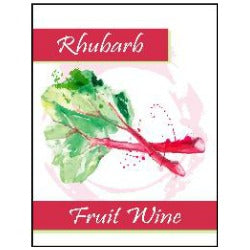 Fruit Wine Labels - Rhubarb