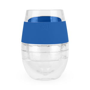FREEZE™ Wine Cooling Cup by HOST® - Clear with Colored Wrap