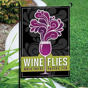 Garden Flag - Wine Flies Black